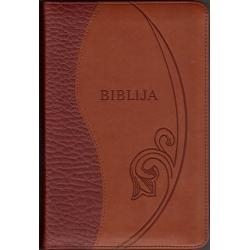 Biblija 14x21cm, Kanoninė, dvispalviu viršeliu su užtrauktuku