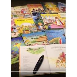 """ĮGARSINTA 18 knygų bibliotekėlė """"Mažiems ir dideliems -"""" su skaituku"""