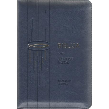 Biblija 12,5 x 18 cm, ekumeninė, su užtrauktuku 2018 m.