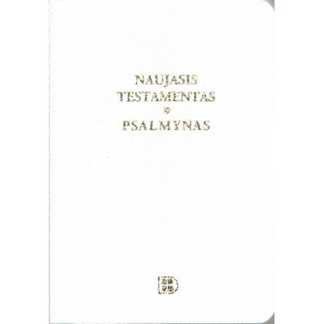 Naujasis Testamentas ir Psalmynas baltas (8 x 11,5 cm), kišeninis)