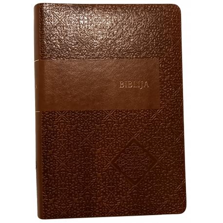 Biblija 16 x 23 cm, kanoninė lanksčiais viršeliais 2018 m.
