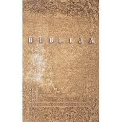 Prabangi meniškai įrišta Biblija 16 x 23 cm