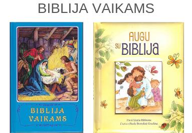 Įvairios vaikiškos Biblijos